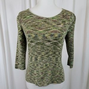 JH COLLECTIBLES Green & Brown Patterned Sweater